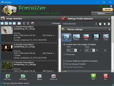 Fotosizer - Features