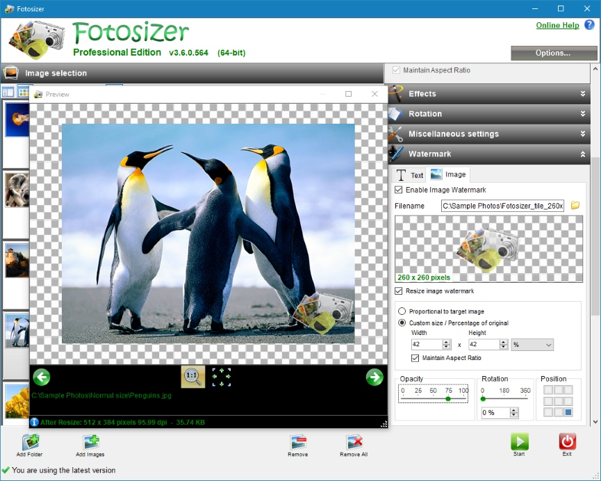 Fotosizer - Screenshots