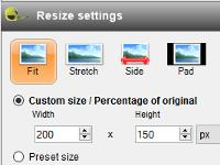 Batch resizing, watermarking and rotation